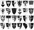 Set of ornamental heraldic shields Royalty Free Stock Photo