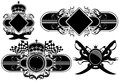 Set of ornamental labels this illustration may be useful as designer work Royalty Free Stock Photography