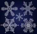 Set of ornamental snowflakes Stock Image