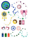 Set of ornaments Stock Photography