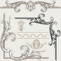 Set of Ornate Flourishes Royalty Free Stock Images