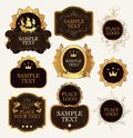 Set of ornate label templates in the Baroque style Royalty Free Stock Photo