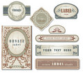Set of ornate vintage labels Stock Image