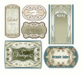 Set of ornate vintage labels Stock Photos