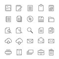 Set of outline stroke document icon vector illustration Royalty Free Stock Photo