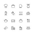 Set of outline stroke kitchenware icon vector illustration Stock Photo