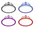 Set of oval ornamental labels four Royalty Free Stock Photography