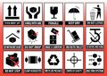 Set Of Packaging Symbols Royalty Free Stock Photo