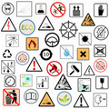 Set of packing symbols Stock Photo