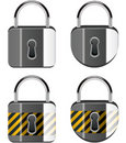 Set of padlocks Royalty Free Stock Photos