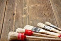 Set of paint brushes Royalty Free Stock Photo