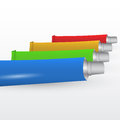 Set of paint tubes vector illustration Royalty Free Stock Photography