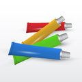 Set of paint tubes vector illustration Stock Photography