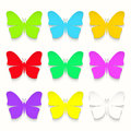 Set of paper butterflies Royalty Free Stock Photo