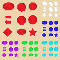 Set of paper labels and stickers Royalty Free Stock Photo