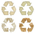 Set of paper recycling symbol isolated Royalty Free Stock Photo