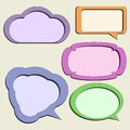 Set of paper speech bubbles Royalty Free Stock Photography
