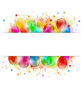 Set party balloons confetti with space for text illustration Stock Photography
