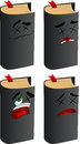 Set of passed out or wounded book vector format is available Royalty Free Stock Photography