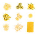 Set of pasta Royalty Free Stock Photo