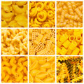 Set of  pasta backgrounds Stock Photography