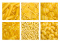 Set of pasta backgrounds Royalty Free Stock Images