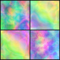 Set of Pastel Iridescent Backgrounds for Affiche, Placard, Poste Royalty Free Stock Photo