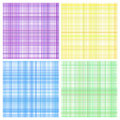Set of pastel stripes plaid Royalty Free Stock Photography