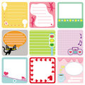 A set of pastel Tags / Labels Royalty Free Stock Photos