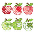 Set of patchwork apples Stock Photography