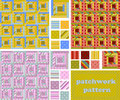 Set patchwork pattern Royalty Free Stock Photography