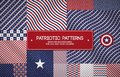 Set of patriotic american patterns with stars and stripes. Can be used for Memorial day, Independence day and political events.