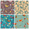 Set patterns cute pattern flower seamless this is file of eps format Royalty Free Stock Image