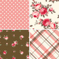 Set of patterns retro vector illustrations Stock Photography
