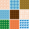 Set of patterns - vector geometric textures Stock Images