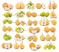Set of pear isolated on white background Royalty Free Stock Photo