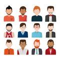 Set of people faceless characters icons Royalty Free Stock Photo
