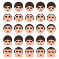 Set of people faces icons Royalty Free Stock Photos