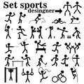 A set of people playing sports
