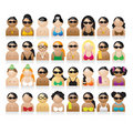 Set of peoples icons Stock Photos