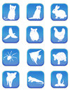 A set of pet icons Royalty Free Stock Images