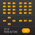 Set of Phone Buttons Royalty Free Stock Photo