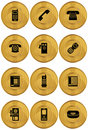 Set of Phone Icons - Gold Coin Royalty Free Stock Photo