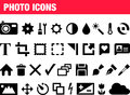 Set of photo icons illustrated isolated on white background Royalty Free Stock Photography