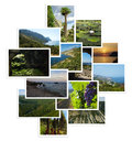 Set of photographs with landscapes Stock Photo
