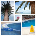 Set from photos illustrating tourism Royalty Free Stock Image