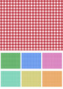 Set picnic fabric Stock Photos