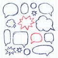 Set picture blank template comic text speech chat bubble. Vector