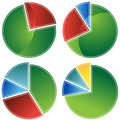 Set of Pie Charts Royalty Free Stock Photos