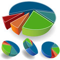 Set of Pie Charts Royalty Free Stock Photo